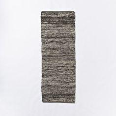 Sweater Wool Rug - Charcoal | west elm.  Runner.  $109.