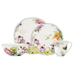 ROCK BOTTOM LOWEST PRICE ANYWHERE! LENOX Floral Meadow 16-pc. Dinnerware Set $275 LOCAL PICK UP OR SHIPS FREE agnellinos.com