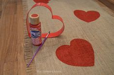 A Valentine Table Runner That's ALL Heart!