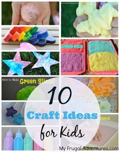 10 Children's Craft Ideas {Perfect for Rainy Days!}  Easy crafts and projects using items you probably already have on hand.