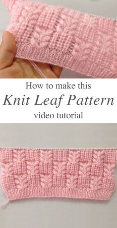 Knit Leaf Pattern You Could Learn Easily – Crochet Free Pattern - Agli - Stric. Knit Leaf Pattern You Could Learn Easily – Crochet Free Pattern - Agli - Stricken ist so einfach wie 3 Das Stricken läuft auf drei wesentliche F. Knitting Terms, Knitting Stiches, Knitting Patterns Free, Knit Patterns, Free Knitting, Crochet Stitches, Free Crochet, Knitting Ideas, Knit Crochet
