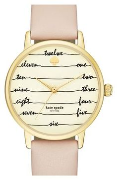 kate spade 'time on wire' leather strap watch, 34mm Must have!!!! http://www.thesterlingsilver.com/product/michael-kors-mk3356-38mm-gold-plated-stainless-steel-case-rose-gold-gold-plated-stainless-steel-mineral-womens-watch/ http://www.thesterlingsilver.com/product/daniel-wellington-glasgow-silver-womens-quartz-watch-with-white-dial-analogue-display-and-multicolour-nylon-strap-0602dw/