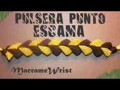 Tutorial- Pulsera Punto Escama - How to make string bracelets - YouTube