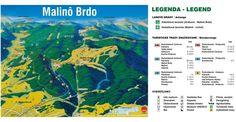 MALINO BRDO, ski centrum, prevádzka vlekov a lanoviek Zľava: skipasy: ; Bike Parking, Skiing, Map, Hiking Trails, Ski, Location Map, Maps