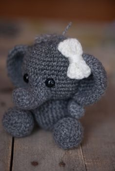 PATTERN: Crochet elephant toy  amigurumi by TheresasCrochetShop