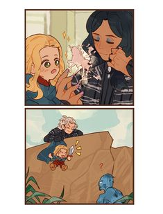iahr'zhor — Yennefer & Geralt A+++ parenting (ft. Jaskier) The Witcher Series, The Witcher Books, The Witcher Geralt, Witcher Art, Fanart, Witcher Wallpaper, Tolkien Hobbit, Animated Man, Good Cartoons