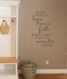 Where there is hope Vinyl Wall Decal Lettering by landbgraphics