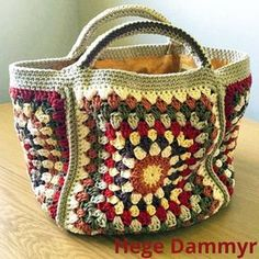 Another #crafternoontreatsbagalong bag by Hege Dammyr. In cotton yarn #sharesunday #crafternoontreats.com