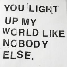 No one like you...