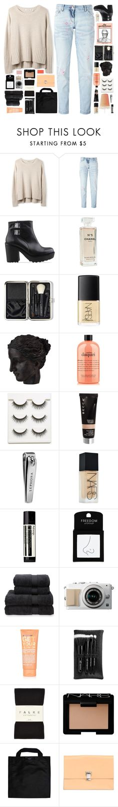 """""""☾ your heart of gold turned platinum"""" by thundxrstorms ❤ liked on Polyvore featuring Philipp Plein, Vagabond, Chanel, Bobbi Brown Cosmetics, NARS Cosmetics, Ren-Wil, philosophy, Becca, Sephora Collection and Aesop"""