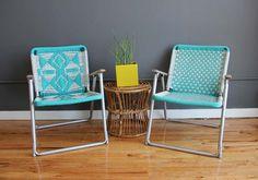 macrame chairs. gallivanting girls.