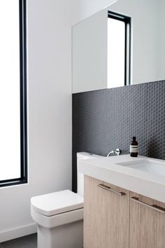 Beautiful matt finishes in this bathroom. #contemporarybathroom