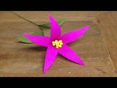 How to Make Primrose Crepe Paper flowers - Flower Making of Crepe Paper - Paper Flower Tutorial - YouTube