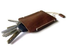 Leather keychain  Leather key case   Handmade key от LeatherPurses, $21.00