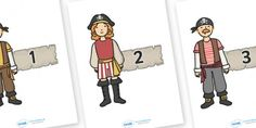 Numbers 0-30 on Pirates - Pirate, Foundation Numeracy, Number recognition, Number flashcards, 0-30, A4, display,  pirate, pirates, treasure, ship, jolly roger, ship, island, ocean