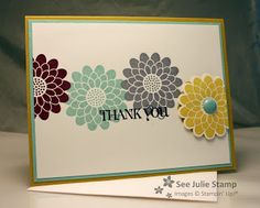 See Julie Stamp - Julie Wadlinger, Stampin' Up! Demonstrator : Button Buddies - Thank You