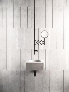 Square wall-mounted marble handrinse basin FONTANE BIANCHE by Fantini Rubinetti