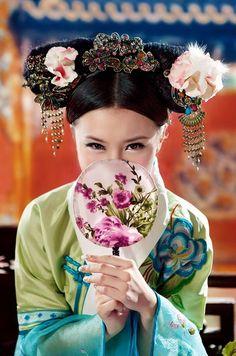 Geisha laughing