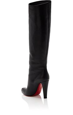 96e392dcdfdb Christian Louboutin Marmara Leather Knee Boots - 6.5 Red Smooth Leather