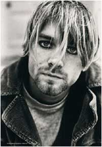 Kurt Cobain Suicide Textile Poster - Gone but never forgotten. Pay tribute to the Nirvana front man with this black and white Kurt Cobain Suicide Textile Poster. 30 X 40.