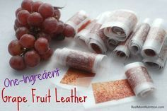 One Ingredient Grape Fruit Leather from Real Mom Nutrition