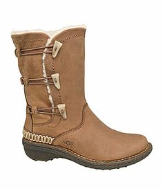 These would have come in handy on those cold days sitting along side of the soccer field!  Even a perfect sole if the ground were wet.  Will be looking for these should we find ourselves there again...  UGG Australia Kona Boots~Dillards