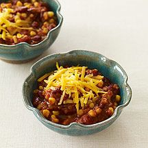 "15-minute vegetarian chili...the words ""15-minute"" and ""chili"" both make this sound very appealing."