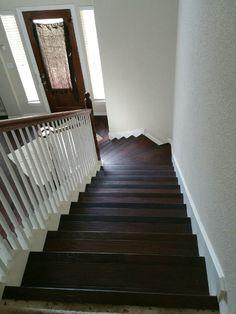Dark Hickory on Stair Case