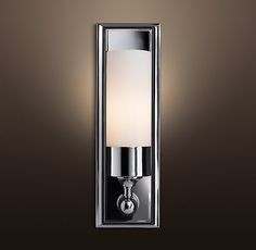 Another option for bathroom lighting.. Keller Sconce again.. Restoration Hardware!