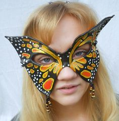 Masquerade Mask Butterfly Leather by MaLadyMasks on Etsy, $28.00