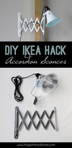 DIY Ikea Hack Accordion Sconces | www.thegatheredhome.com