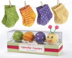 Presentation is half the fun of baby shower gifts. That's why our Sock Gift Set - Caterpillar Crawlers is such a hit.