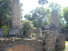 Sugar Mill Botanical Gardens in Port Orange, Florida (near Daytona) was an old sugar mill built on the Dunlawton Plantation where sugar cane was grown in 1832.  What remains of the ruins of the sugar mill and the gardens are now open to the public.