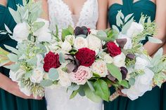 Lush wedding bouquets with red and pink roses and eucalyptus leaves for a Richmond Virginia wedding day #weddingflowers #flowers #bouquet #wedding #weddingideas #bouquets #bride #bridal #virginia #roses Bouquet Wedding, Wedding Flowers, Red And Pink Roses, African American Weddings, Eucalyptus Leaves, Richmond Virginia, Wedding Flower Inspiration, Ceremony Arch, Groom And Groomsmen
