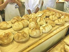 Wood fired baked bread from our semi annual bread class!