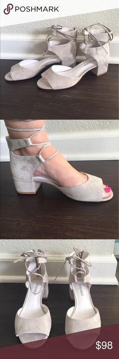 Anthropologie sandals (Jeffrey Campbell) Suede Jeffrey Campbell sandals. Never worn outside. Perfect Condition. Anthropologie Shoes Sandals