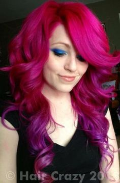 Pink hair with purple dip-dye