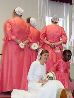 Mennonite wedding. Note the simplicity and modesty.