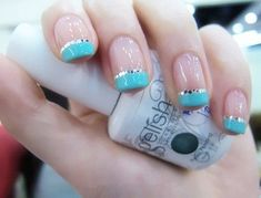 tiffany blue french manicure - AOL Image Search Results