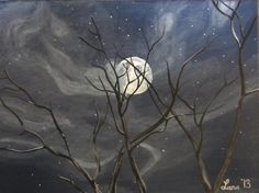 Cloudy Night http://www.artpromotivate.com/2013/09/lana-arft-acrylic-paintings.html