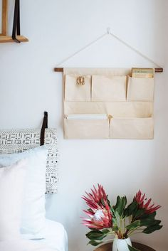 A Pair & A Spare | DIY Canvas Wall Pocket