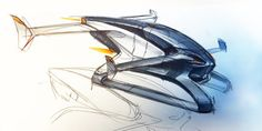 How Airbus Dreamed Up the Wild Design for Its Flying Car Concept Ships, Concept Cars, Working Robots, New Drone, Airplane Design, Experimental Aircraft, Aircraft Design, Car Sketch, Jet Ski