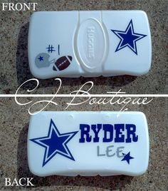 Wipe Case by CJBoutique10 on Etsy, $7.00. Making one with the Yankees!
