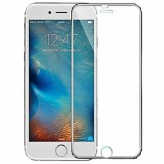 Josi Minea [ iPhone 6/6S ] Tempered Glass Ballistic LCD Screen Protector Full Cover Screen Guard Film Premium HD Shield for Apple iPhone 6 / 6S (4.7-inch) - Silver * More info could be found at the image url.