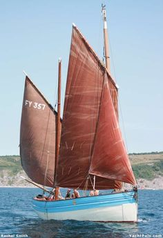 A Truly Cornish Sail Boat. Out To Sea.