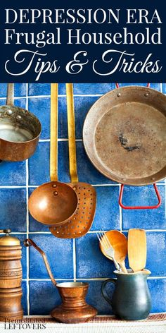 Looking for inexpensive ways to clean your home and maintain your belongings? Check out these clever and frugal Household Tips from the Depression Era!