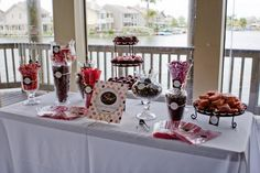 Pink & brown candy buffet