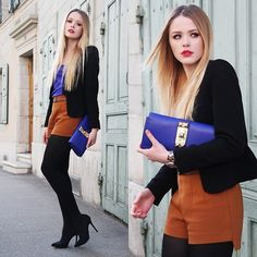 ROYAL BLUE DETAILS (by Kristina Bazan) http://lookbook.nu/look/3130899-ROYAL-BLUE-DETAILS