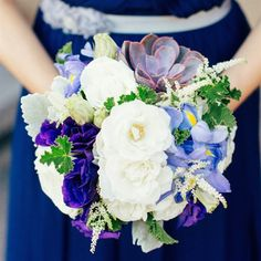White and Purple Bridesmaids Bouquets i like this one!