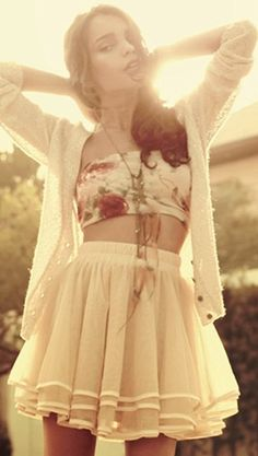 tutu skirt + bandeau top